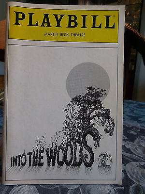 Into The Woods - Martin Beck Theatre Playbill - March 1988 - Bernadette Peters