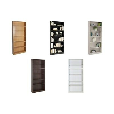 HOME Maine Tall Wide Bookcase - Choice of Grey / Black / White / Beech / Walnut