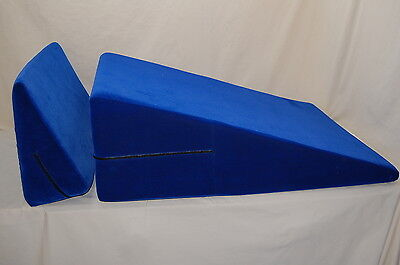 Liberator Blue Ramp & Wedge Microfiber Pillow Position Aid Cushion 2 Pillows!!!