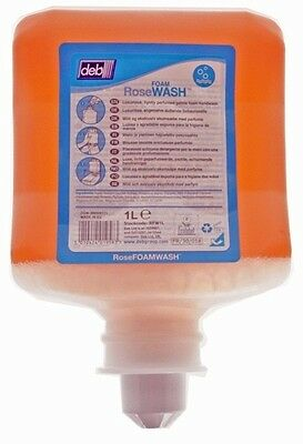 6x Deb RFW1L Rose Foam Hand Wash - 1L Cartridge Genuine Quality Replacement New