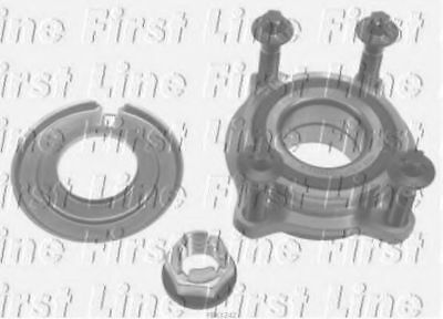 2x Wheel Bearing Kits Front FBK1242 First Line 7701208966 8200416590 Quality New
