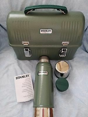 NEW Stanley Steel Lunch Box & Nesting Vacuum Bottle Combo Green Classic Series