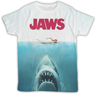 Jaws Movie Poster Ideal Gift Birthday Present All Over Printed Unisex Tshirt