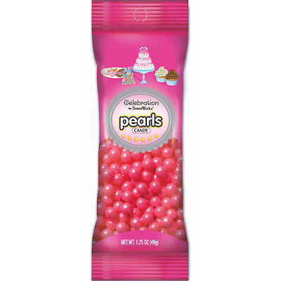 Celebrations By SweetWorks Pearls(TM) 1.75oz-Shimmer (TM) Bright Pink