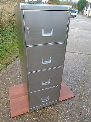 Vintage Industrial Metal Filing Cabinet Stripped & Polished Delivery Available.
