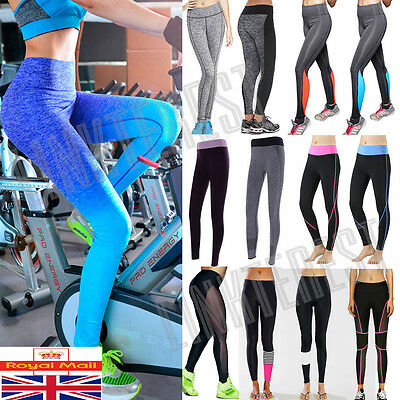 Women Sports Gym Yoga Running Fitness Leggings Pants Exercise Athletic Suit L268