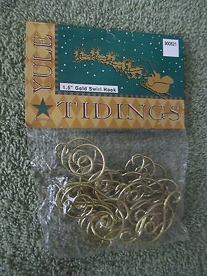 "96 Gold Swirl Decorative Christmas Tree Ornament Hooks NEW   1.5"" FREE SHIPPING"