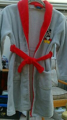 Disney Mickey Mouse Grey Robe age 4-6 years