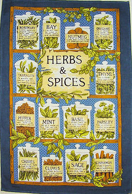 Herbs And Spices Ulster Weavers Linen Tea Towel
