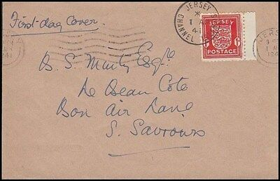 JERSEY 1941 1d. ARMS FDC (ID:301/D42911)