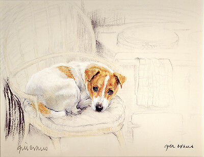 JACK RUSSELL TERRIER JRT DOG LIMITED EDITION PRINT -  Artist Proof # 13/85 - AGA