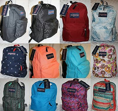 Jansport Superbreak Book Bag Backpack 100% Authentic Huge Sale Many Styles Nwt