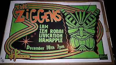 Ziggens 12.5x19 poster LAW skunk records long beach 50 made