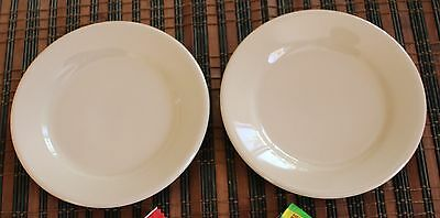 2 Vintage Farmer Brothers Wallace China Restaurant Ware Salad Plates MORE AVAIL