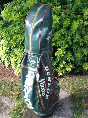 DUNLOP sacca da golf vintage, Golf bag RACING GREEN- GREAT CONDITIONS