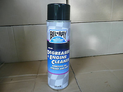 "Bel Ray Degreaser + Engine Cleaner 500Ml Spray Can "" Removes Oil Grease + Dirt """