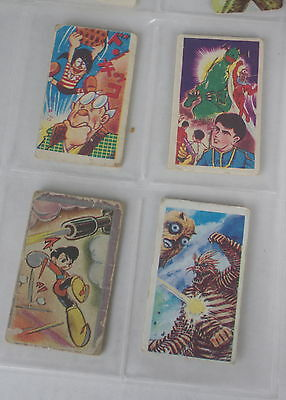Rare Vintage Astro Boy Japanese Trading Cards 4 Different Cards Guc