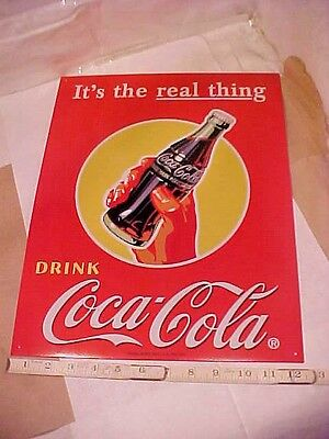 """Coca-Cola It's the real thing DRINK Coca-Cola Tin Sign GOOD CONDITION 16X12 1/2"""""""