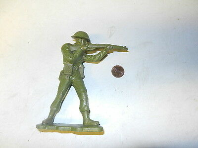 Marx BRITISH production 6 inch plastic WWII British Soldier standing firing!