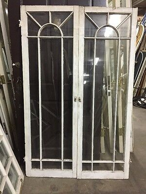 Old Spanish Revival Mission Style Windows Spiderweb Top Molding 65""