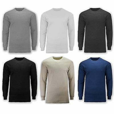 NEW Men Heavy Weight Thermals Long Sleeve Shirt Round Neck ALL SIZES