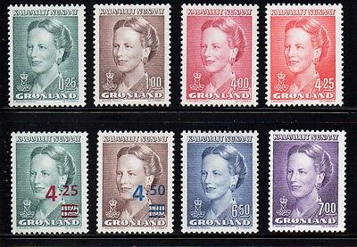 Greenland Sc 214-29 1990-1006 Queen Margrethe stamp set mint NH