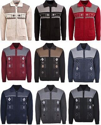Men's Knitted Cardigan Classic Style Zipper WITH COLLAR