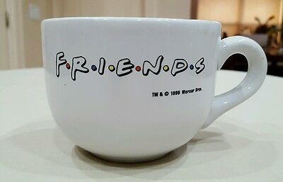 Friends Kit Kat Warner Bros 1996 White Oversized Coffee Tea Cup Mug Central Perk