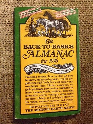 Vintage The Back To Basics Almanac For 1976 Book Mother Earth News Magazine