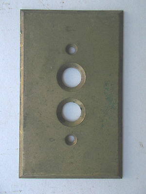 Vintage-Brass-Knob and Tube Light Switch Plate!