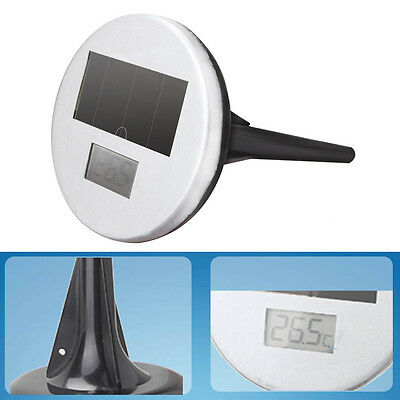 Pond Pool Floating Solar Powered LED Instant Read Digital Thermometer New