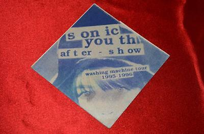 SONIC YOUTH Washing Machine Tour 1995-1996 After Show  Backstage Pass