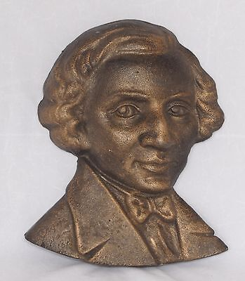Cast Iron Bust of Chopin Wall Hanging - Garden Ornament