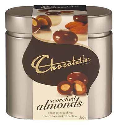 Chocolatier Australia Scorched Almonds Gift Tin - 200g