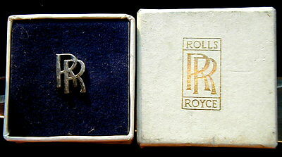 old RARE silver pin auto car ROLLS ROYCE in original box