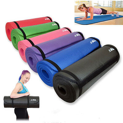 15mm Yoga Mat Thick Exercise Fitness Physio Pilates Camping Gym Mats Non-Slip