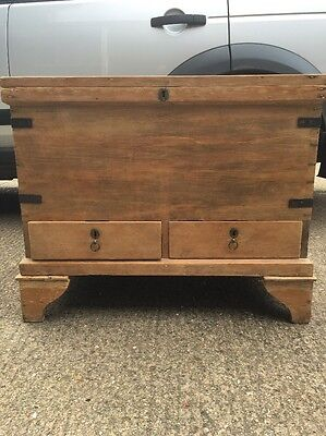 Antique Pine Chest (Trunk)