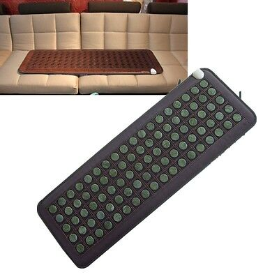 Tourmaline mat Natural Jade Stones Negative Ions InfraRed  Multi Heal Pad Gift