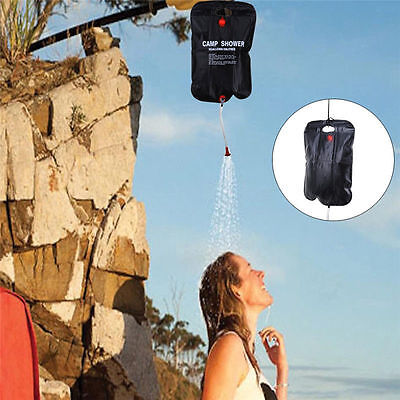 20L Solar Heater Shower Water Bag Outdoor Camping Picnic Water Storage Portable