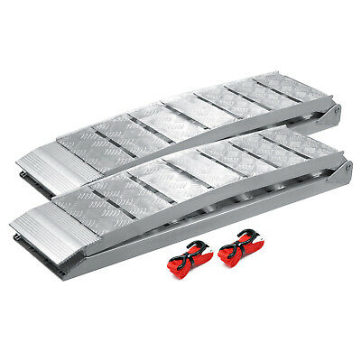 "2x folding loading ramp 90x11"" 3000lbs (228cm 1360kg) scooter ramp ATV aluminium"