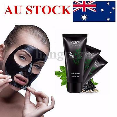 3PCS Black Mud Facial Deep Cleansing Peel Off Blackhead Nose Removal Face Mask