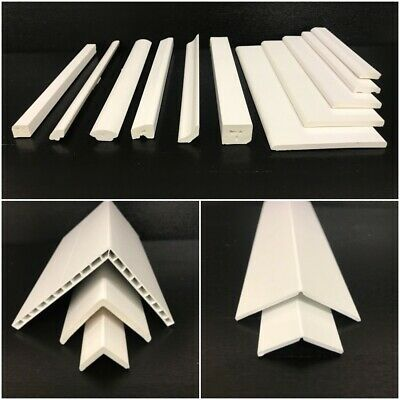 UPVC WINDOW DOOR PLASTIC TRIM 90° ANGLES BEAD VARIOUS SIZES SHAPES 5m - 2 X 2.5m