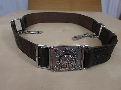 Girl Guide Belt - 1940's / 1950's Old Style - John Leckie & Co - Spring Clips