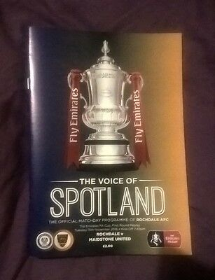 Rochdale v Maidstone United FA Cup 1st Round Replay 15/11/2016