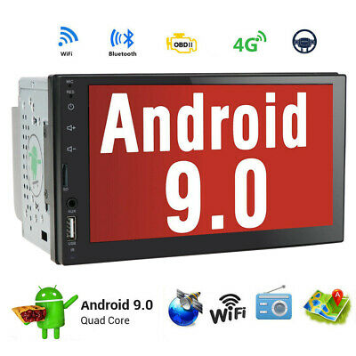 "Quad Core Android 4.4 3G WIFI 7""Double 2DIN Car Radio Stereo DVD Player GPS Nav~"