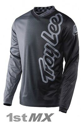 2017 Troy Lee Designs 50 50 TLD MX GP Motocross Jersey Charcoal Adult Large