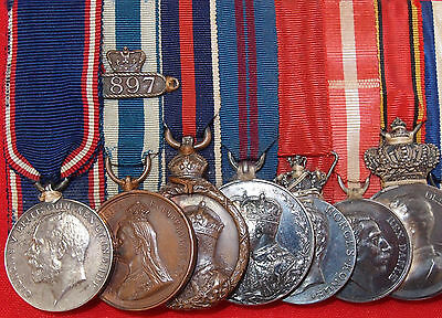 Pre Ww1 British Royal Household Service Medal Group George Woods Master Stores