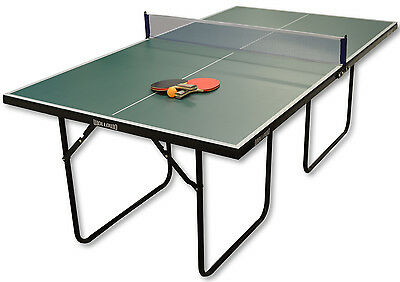 Green 3/4 Junior Sized Table Tennis/Ping Pong Foldable Table With Accessories
