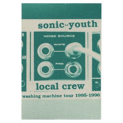 Sonic Youth Green Local Crew 1995-1996 Backstage Pass