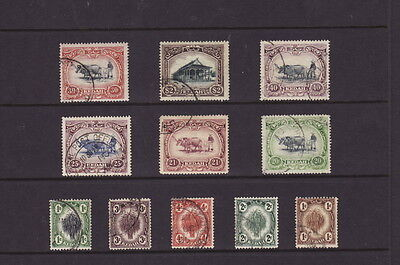 KEDAH MALAYA 1912-40 DEFINITIVE SELECTION to $2.00 COUNCIL STAMPS - FINE USED